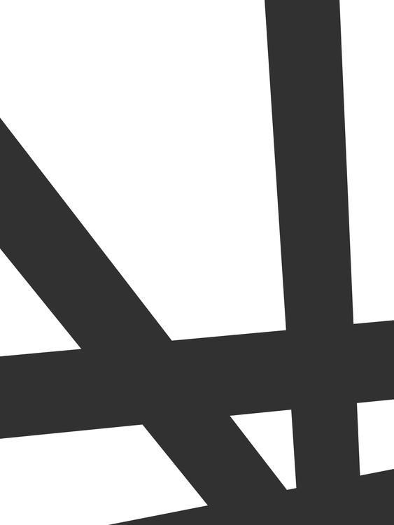 Exklusiva konstfoton Black lines on white