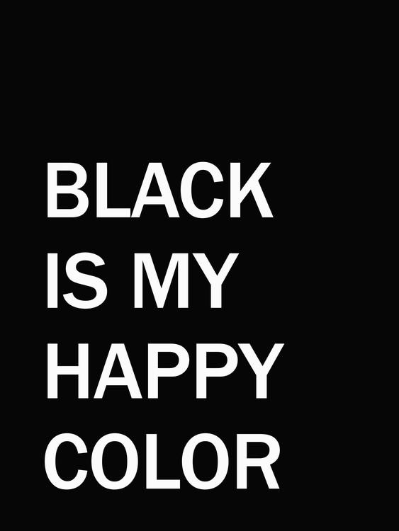 Exklusiva konstfoton blackismyhappycolour1