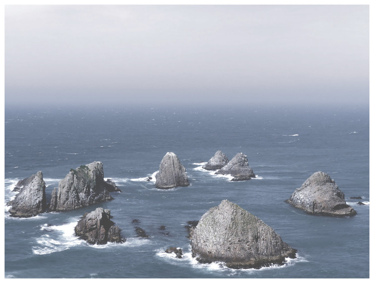 Exklusiva konstfoton Border cliff sand ocean