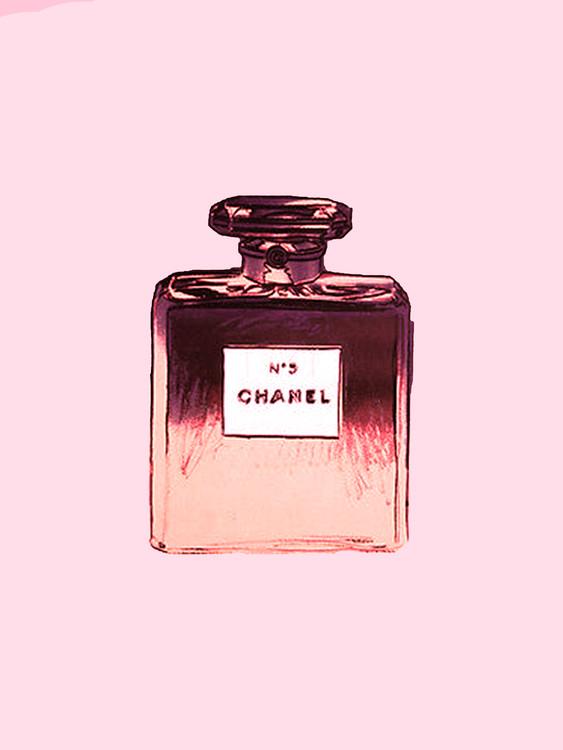 Exklusiva konstfoton Chanel No.5 pink