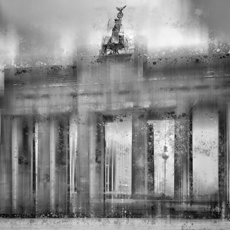 Exklusiva konstfoton City Art BERLIN Brandenburg Gate