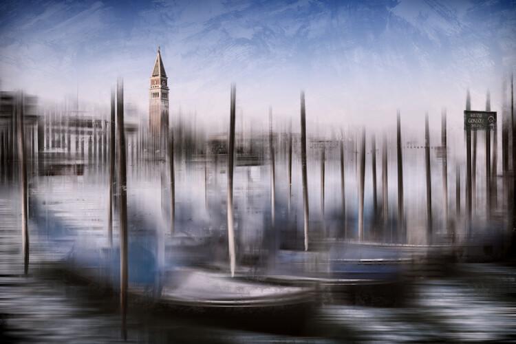 Exklusiva konstfoton City Art VENICE Grand Canal and St Mark's Campanile