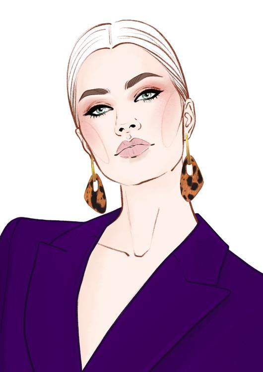 Exklusiva konstfoton Fashion Face