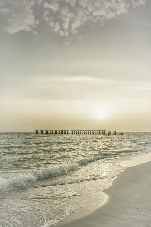 Exklusiva konstfoton Gasparilla Island Sunset | Vintage