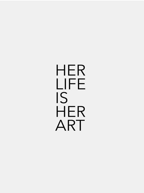 Exklusiva konstfoton her life is her art