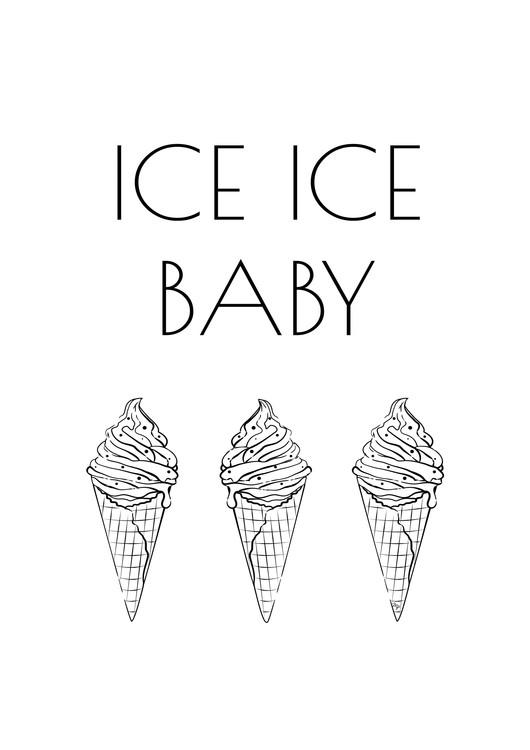 Exklusiva konstfoton Ice Baby