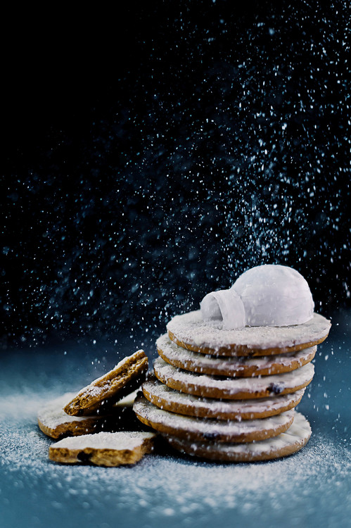 Exklusiva konstfoton Igloo (Powdered Sugar)