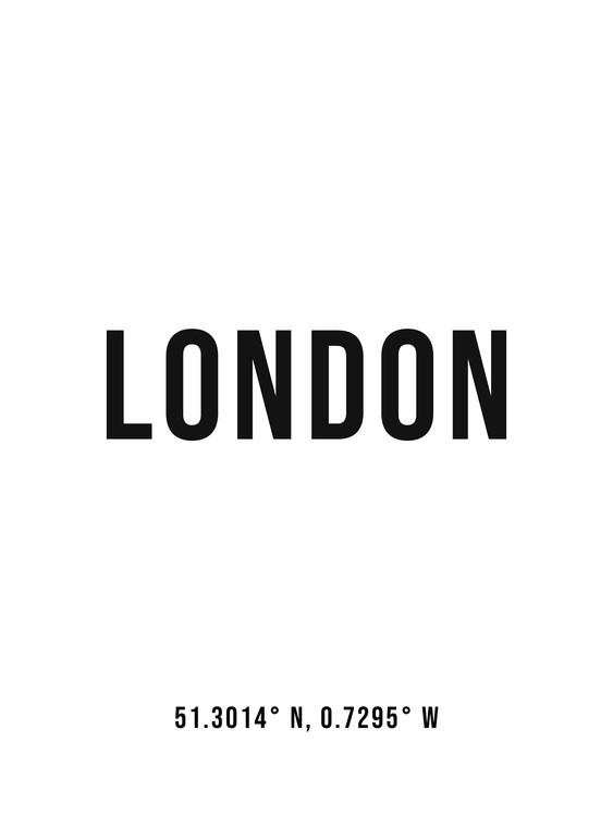 Exklusiva konstfoton London simple coordinates