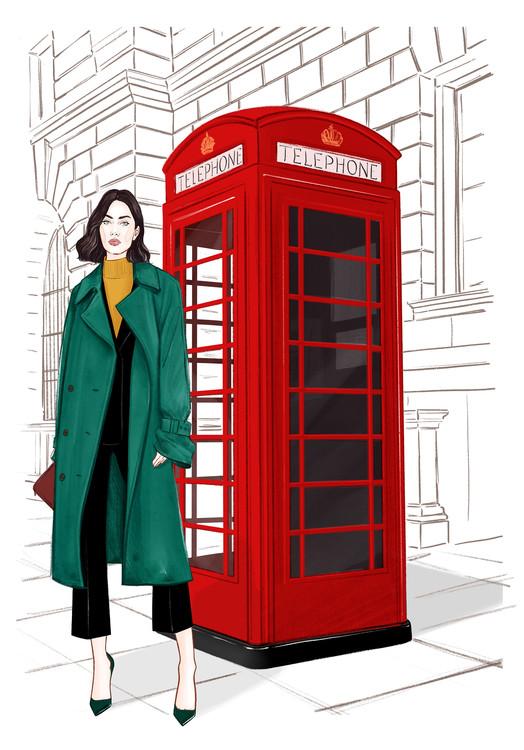 Exklusiva konstfoton London Streetstyle
