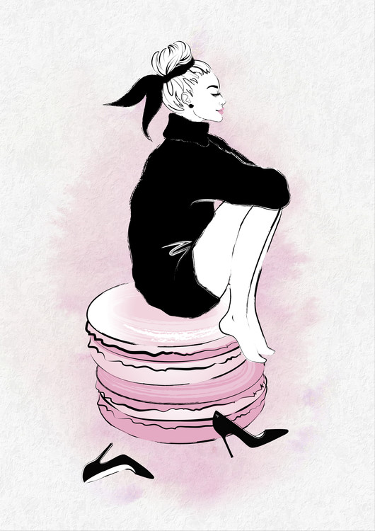 Exklusiva konstfoton Macaron Girl