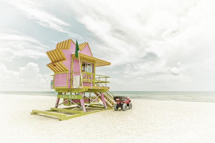 Exklusiva konstfoton MIAMI BEACH Vintage Florida Flair