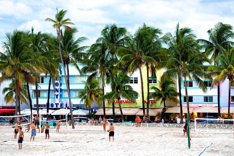 Exklusiva konstfoton Moment of Life on Ocean Drive - Miami Beach