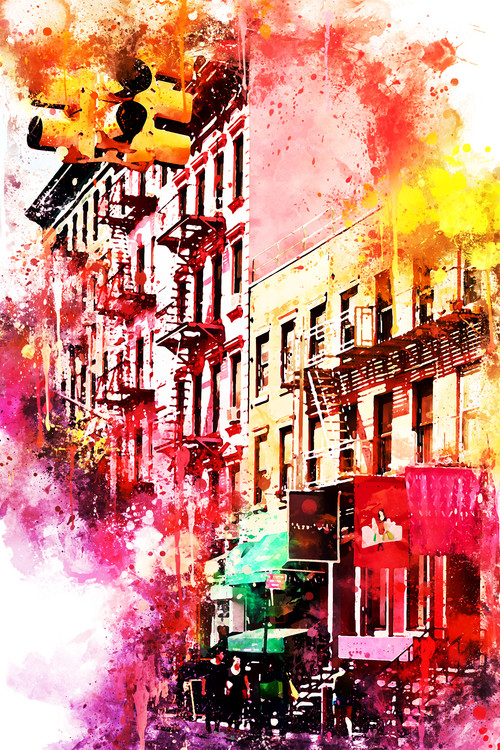 Exklusiva konstfoton NYC Watercolor 050
