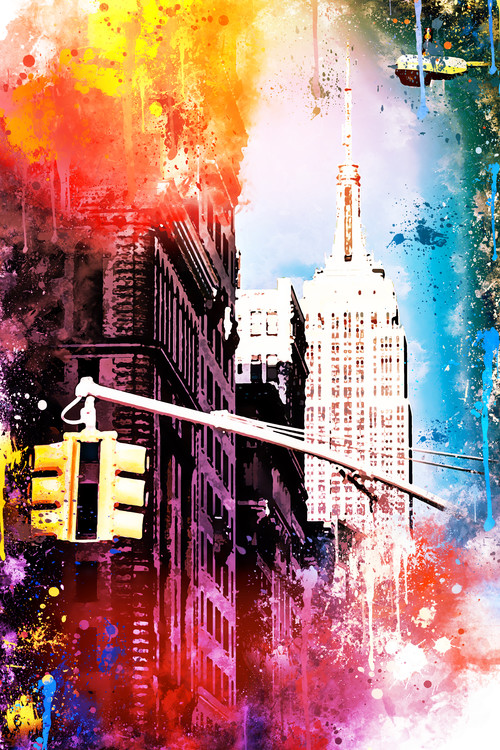 Exklusiva konstfoton NYC Watercolor 113