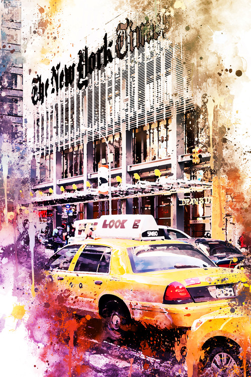 Exklusiva konstfoton NYC Watercolor 127