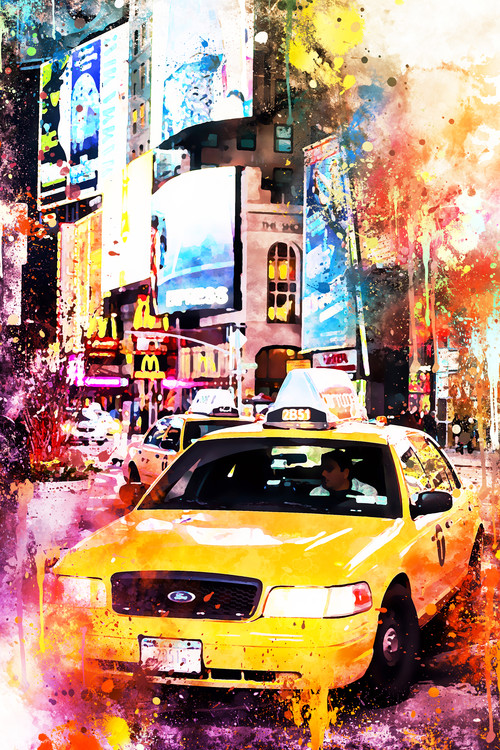 Exklusiva konstfoton NYC Watercolor 147