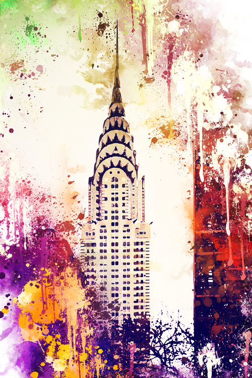 Exklusiva konstfoton NYC Watercolor 155