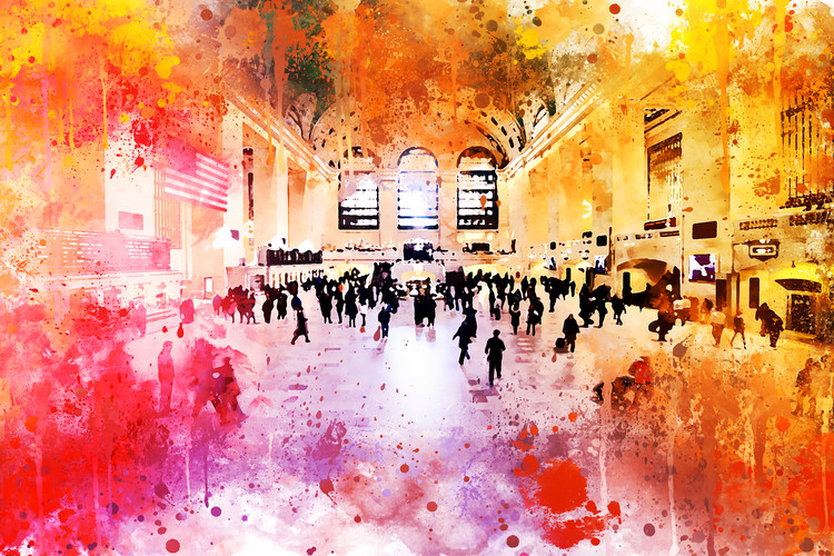 Exklusiva konstfoton NYC Watercolor 157