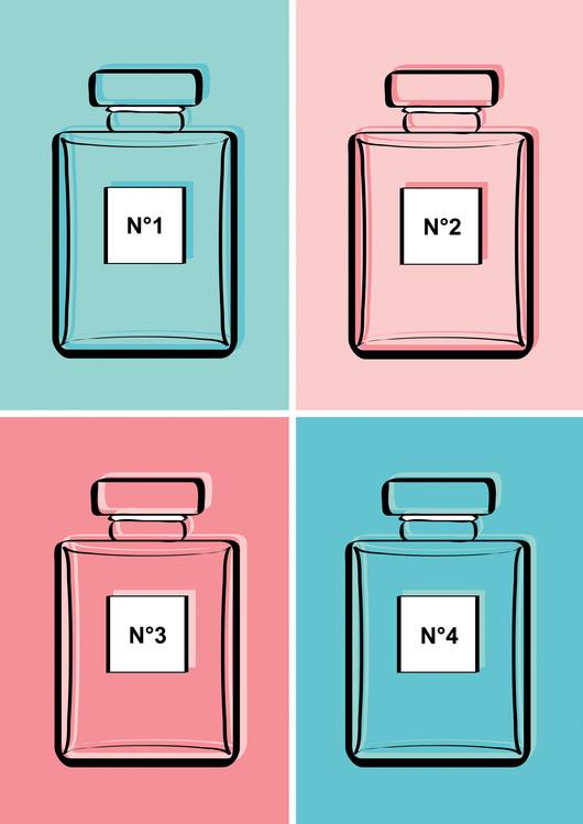 Exklusiva konstfoton Pastel perfumes