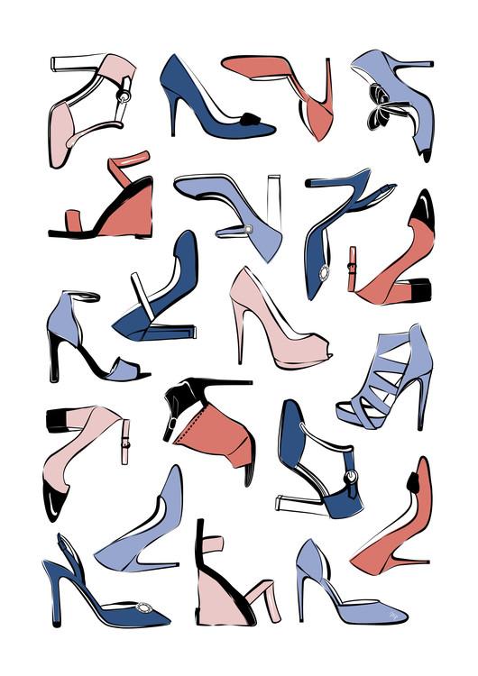 Exklusiva konstfoton Pastel Shoes