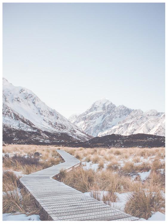 Exklusiva konstfoton path through wilderness