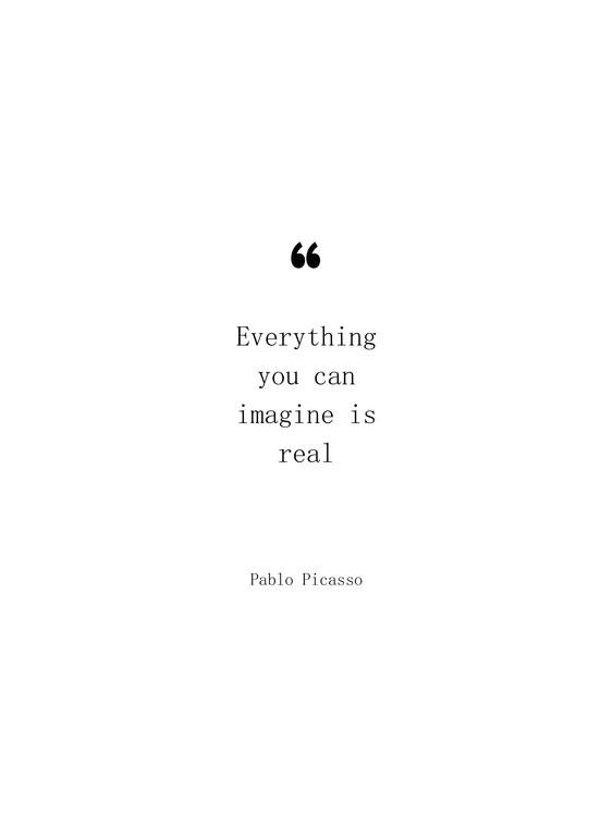 Exklusiva konstfoton Picasso quote
