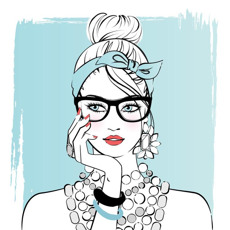 Exklusiva konstfoton Planner girl