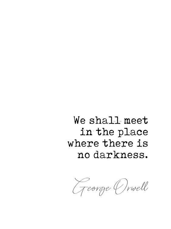Exklusiva konstfoton Quote Orwell
