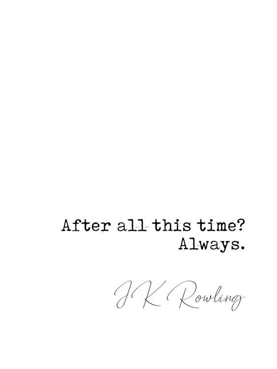 Exklusiva konstfoton Quote Rowling