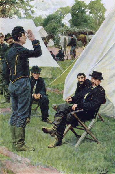 Konsttryck Sheridan's First Interview with Rowand, illustration from 'Rowand' by William Gilmore Beymer, pub. in Harper's Weekly, June 1909