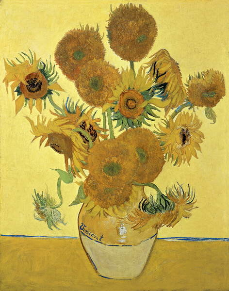 Konsttryck Sunflowers, 1888