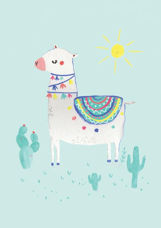 Exklusiva konstfoton Sunshine llama