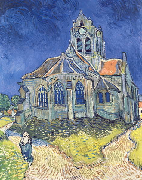 Konsttryck The Church at Auvers-sur-Oise, 1890