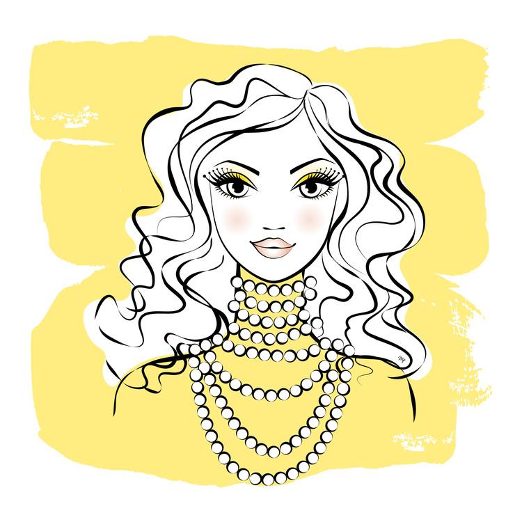 Exklusiva konstfoton Yellow Beads