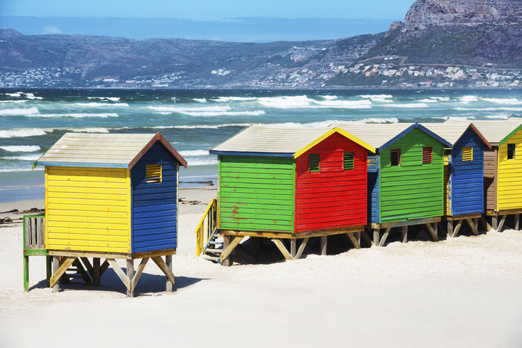 Exkluzív Művész Fotók Row of Beach Houses on Beach