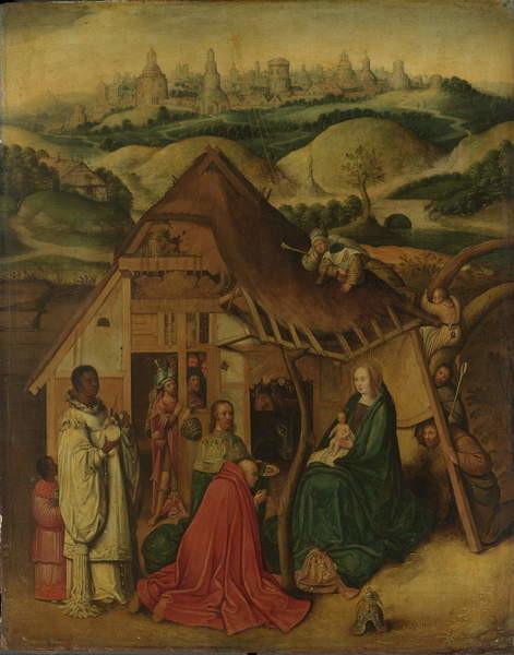 Adoration of the Magi, early 17th century Festmény reprodukció