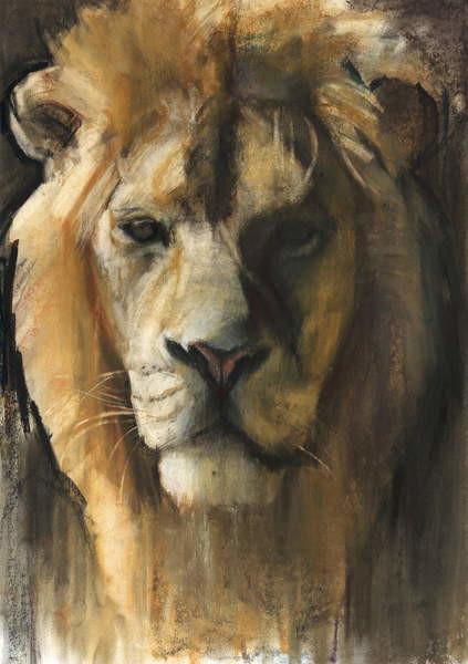 Asiatic Lion, 2015, Festmény reprodukció