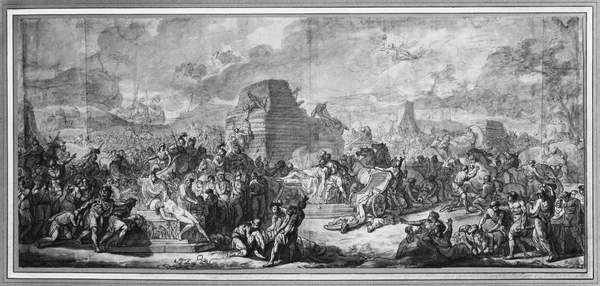 Funeral of Patroclus Festmény reprodukció