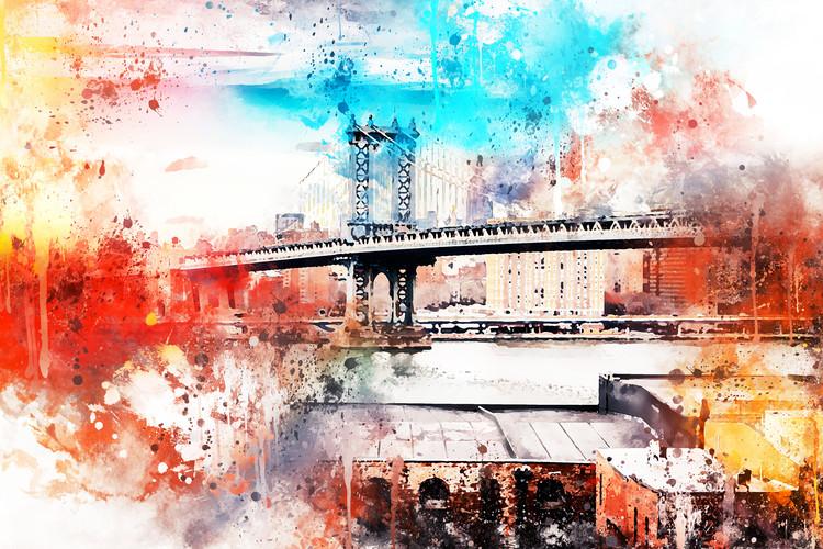 Exkluzív Művész Fotók NYC Watercolor 095