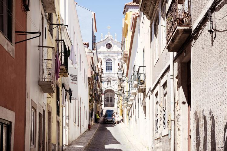 Exkluzív Művész Fotók Old Lisbon Street