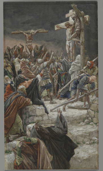 The Pardon of the Good Thief, illustration from 'The Life of Our Lord Jesus Christ', 1886-94 Festmény reprodukció