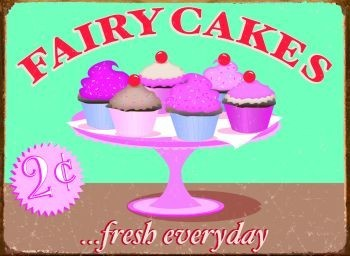FAIRY CAKES Metalplanche