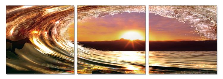 Falling tide - Sunset Tableau Multi-Toiles