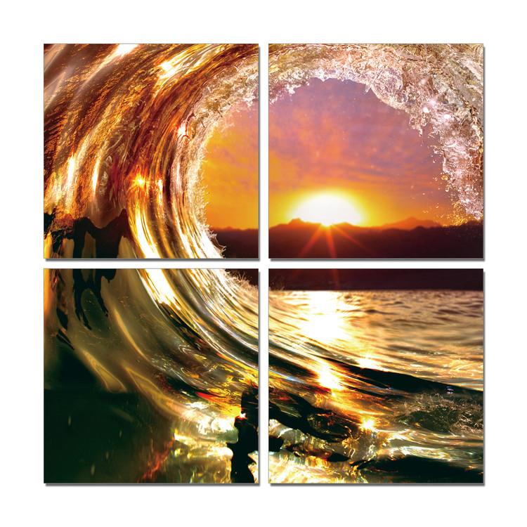 Falling Wave - Sunset Modern tavla