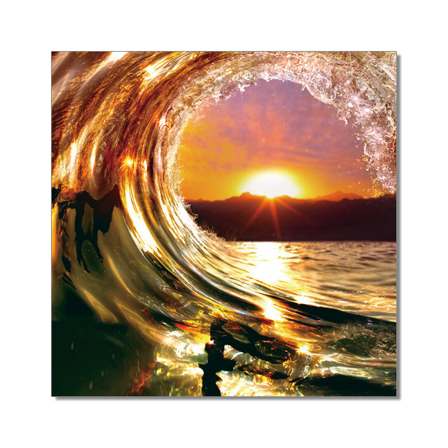 Falling Wave - Sunset Modern tavla