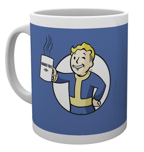 Taza Fallout - Vault Boy Holding Mug