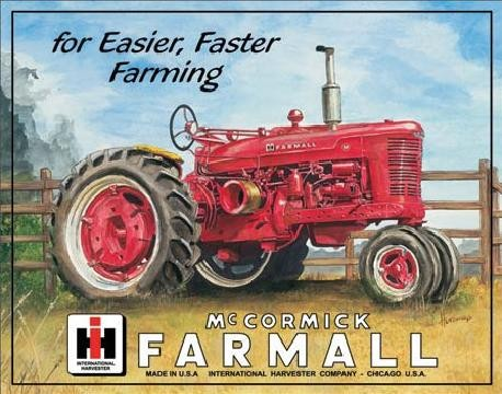 FARMALL - m Metalen Wandplaat