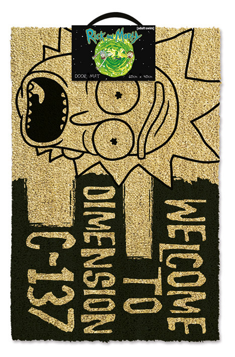 Felpudo  Rick and Morty - Dimension C-137 Black
