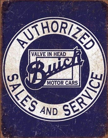 Buick - Valve in Head fémplakát