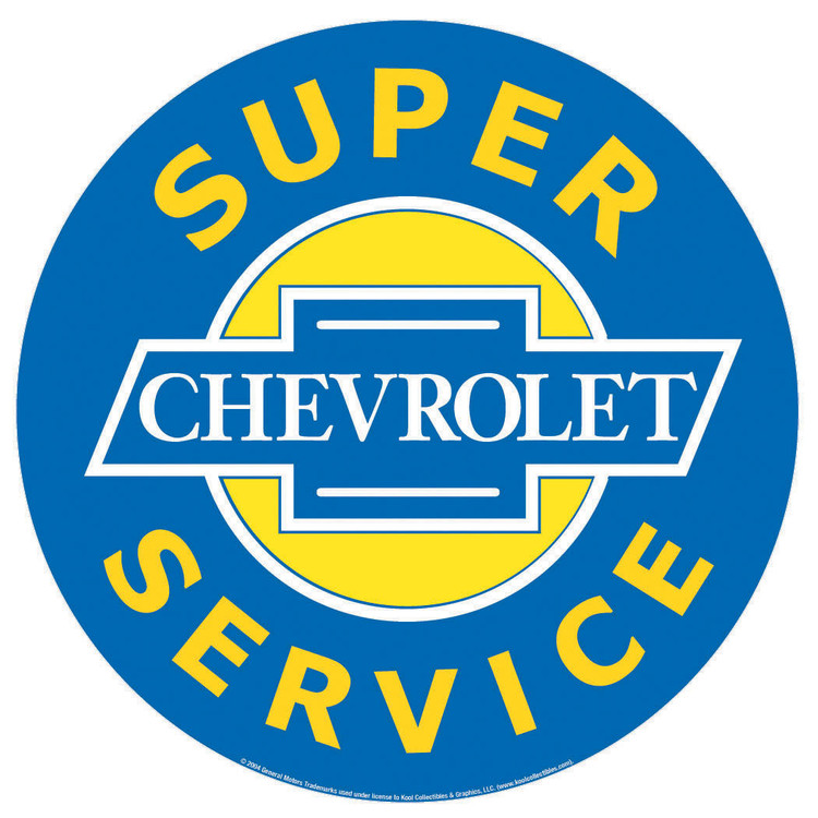 CHEVROLET SUPER SERVICE fémplakát